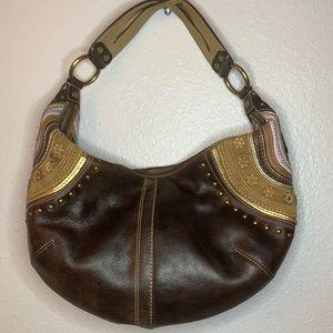 Vintage coach leather hobo bag.